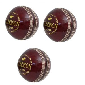 CW Garrison Cricket Leather Ball 4 Piece Leather Cricket Ball Water Proof Match & Training Quality Maximum Over Ball Pack of 3