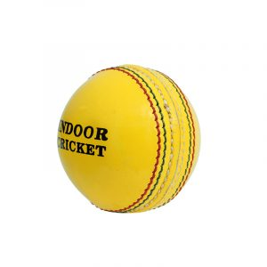CW Indoor Cricket Leather Ball Yellow Leather Ball Indoor Cricket Ball 2 Part Side Cricket Ball Leather Ball Yellow Pack of 6