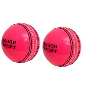CW Indoor Seasoned Cricket Ball Set Of 2 Cricket Leather 2 Piece Ball Natural Cork Balls Weight 120gm Approx