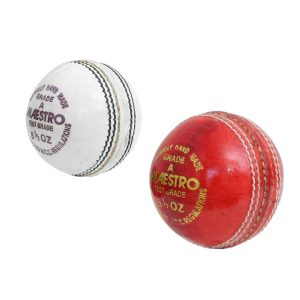 CW Maestro Cricket Ball Hand Stitched 4 PCE Match Ball Tournament Balls Adult (Pack Of 2)