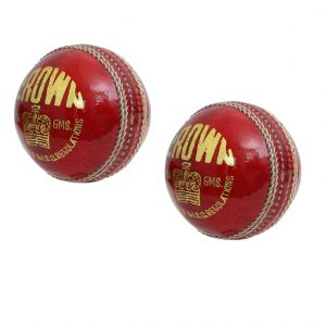 CW Crown Professional Cricket Ball Leather Red 4 Part Weight 156gram (Pack of 2)