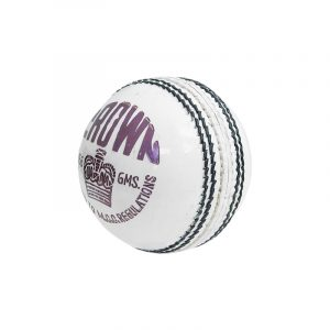 CW CROWN White Leather Cricket Ball Men 4 CUT Season Ball Official (Set of 2)