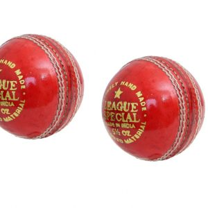 CW League Special Red Leather Ball For Cricket Leagues Season 4 Piece Balls Set of 2