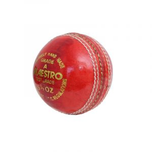CW Maestro Red Leather Cricket Ball 4Pc Hand Stitch Pack of 2 Weight 156gm Approx