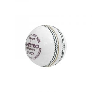 CW Maestro White Cricket Ball Leather Cricket Ball White 4 Cut Piece Club Match & Academy Training Tournament Ball White Day Night Match Ball(Pack Of 2)
