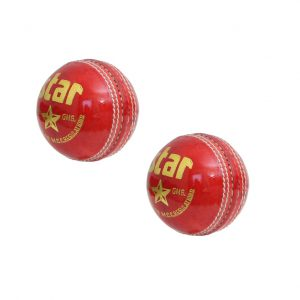 CW STAR Red Cricket Ball Leather Fo