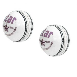 CW STAR White Leather Cricket Ball