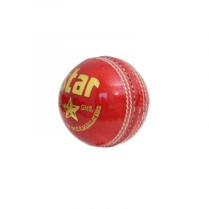 CW Star Red Leather Cricket Ball 4