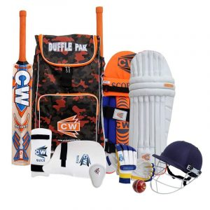 CW Bouncer Cricket Kit for Kids Cricket Set Boys Teen's Young Leather Cricket Ball Cricket Shoulder Bag Kit with Accessories