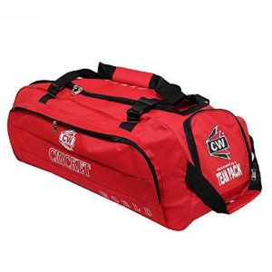 CW TEAM PACK CRICKET KIT BAG FOR MEN FULL SIZE ADULT KIT BAG WITH WHEELS KITS TRAINING KIT BAG FOR CRICKET EQUIPMENT WHEELS KIT BAG WHEEL CRICKET KIT WITH SHOE COMPARTMENT