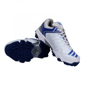 FIRE FLY All Rounder Cricket Shoe for Men No Spike Rubber Sole Blue White