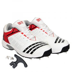 FIRE FLY HOWZATT Cricket Spike Shoes for Men in PU with Extra Set Metal Nails & Key