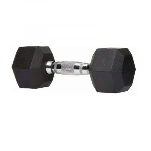 FIRE FLY Fixed Weight Hand Dumbbell Single Piece Only Fitness Hex Dumbbells Professional Exercise Home Hexagonal Dumbbell Rubber Coated Fitness Grip Hex Rubber Dumbbell