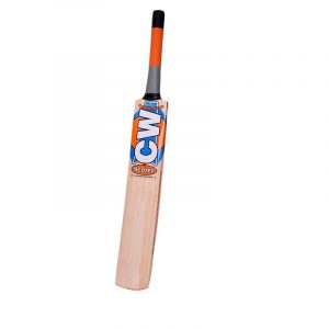 CW Scorer Kashmir Willow Cricket BAT Full Size for Men Short Handle Leather Ball BAT with Cover