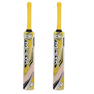 CW Mark Youngster Cricket Bat Kashmir Willow Leather Ball Bat Light Weight Cricket Bat Full Size Adults Pack of 2